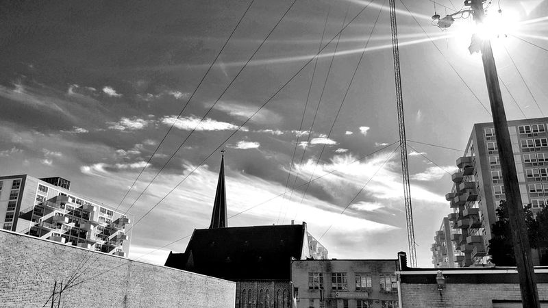 The Changing City Black And White Blandwhite Drifting Clouds Intersecting Lines Saint Louis Showcase: November