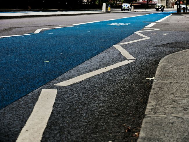 Cycle Safety Cycle Lane Bicycle Lane Blue Lane Blue Embankment London England Tfl TransportForLondon Transport For London The City Light Minimalist Architecture The Street Photographer - 2017 EyeEm Awards Postcode Postcards Mobility In Mega Cities