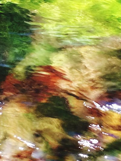 River Abstract Nature Multi Colored