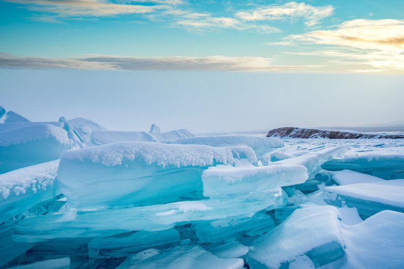 Blue ice cube ii lake baikal - russia