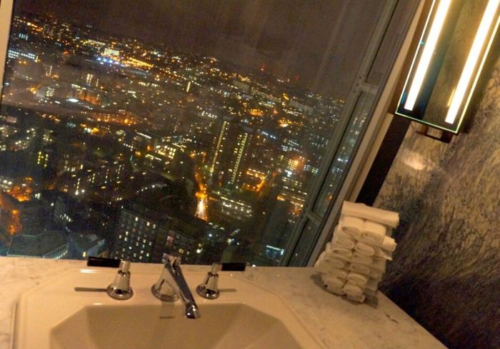 Architecture Illuminated Night City Modern Building Exterior No People Indoors  Cityscape Bathroom View