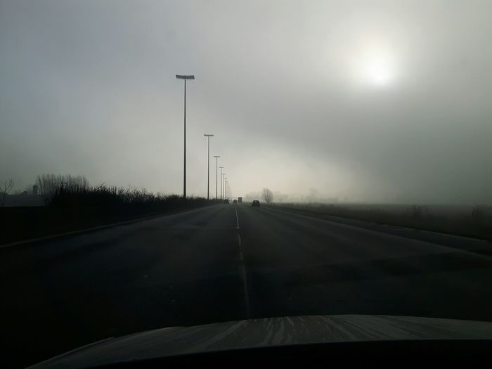 Apocalyptic Drive Fog Nature Winter Outdoors Day Being Creative My Unique Style Popular Photos My Art, My Soul... EyeEm Best Shots Dramatic Sky Nature The Way Forward Road Taking Photos Winter The Purist (no Edit, No Filter)