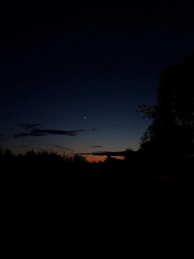 Spring Springtime Sunset Sky Silhouette No People Nature Beauty In Nature Night Scenics - Nature Sunset Dark Outdoors Plant Tree Environment Cloud - Sky Landscape Dusk Croatia Orange Color Colorful Sky Slavonski Brod