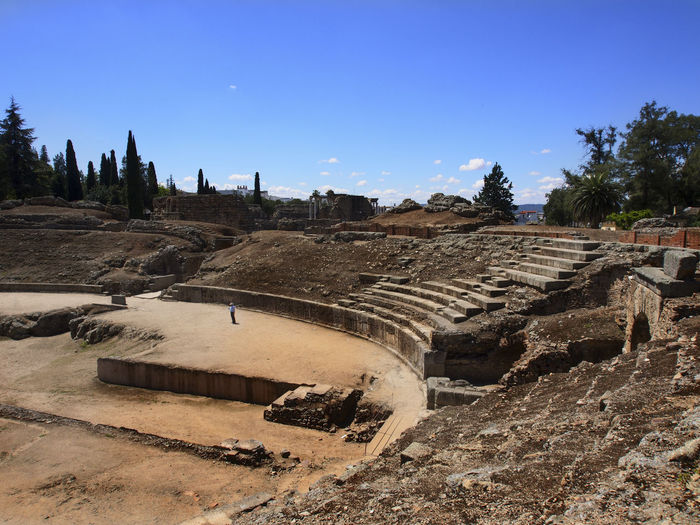 In the Roman theatre Ancient Building Ancient Civilization Architecture History Incidental People Old Ruin Roman Architecture Roman Ruins Roman Theatre Ruined SPAIN Stone Tourism Travel Destinations Telling Stories Differently Calm Live For The Story