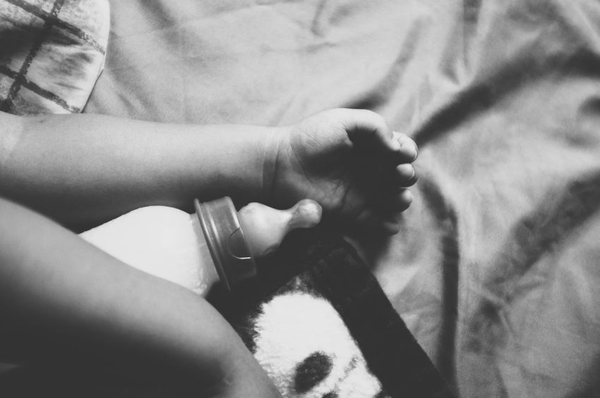 Baby sleeping Human Hand Human Body Part Indoors  Baby Babyboy Milk Hand Fingers Baby Fingers Cute Sleeping Black And White Baby Bottle Teat Nipple Drink Infant Young Formula Feeding Bottle Feeding Calm Quiet Lullaby