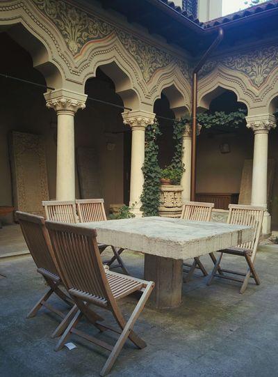 EyeEm Selects Chair Table No People Innenhof Stavropoleos Monastery Backyard