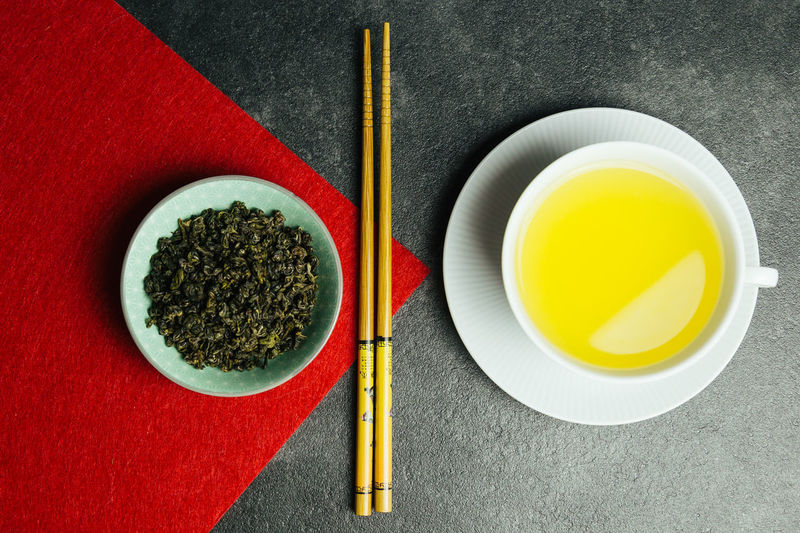 Bowl Chopsticks Close-up Day Directly Above Food Food And Drink Freshness Green Tea Healthy Eating Indoors  No People Ready-to-eat Table Tea - Hot Drink