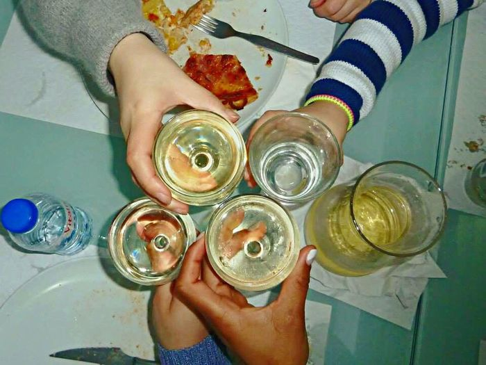 Wine Not Human Hand Human Body Part High Angle View Real People Holding Food And Drink Indoors  Directly Above Wineglass Lifestyles Drink Leisure Activity Drinking Glass Day Low Section Friends Freshness Food Close-up Women Happymoments
