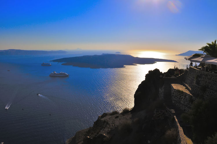 santorini grecia Grecia Santorini, Greece Architecture Beach Beauty In Nature Building Exterior Clear Sky Day Horizon Over Water Nature No People Outdoors Scenics Sea Sky Sunset Tranquil Scene Tranquility Turismo Isla Water