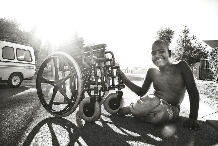 Only Men One Person One Man Only Travel People Smiling Cheerful Day Outdoors Boy Disabled Smiling Face Newtalent