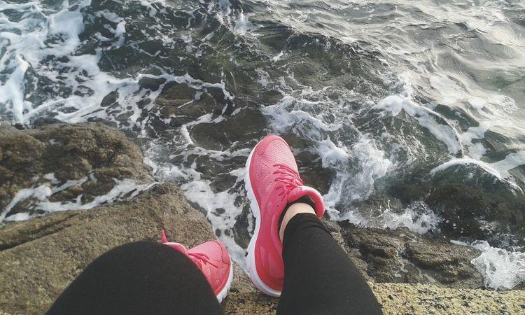 Relaxing Taking Photos Asics Run Sea Morning