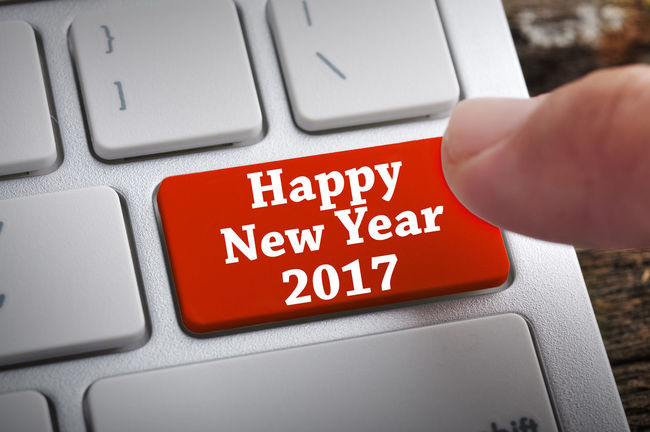 "Finger at ""Happy New Year 2017"" On Keyboard Button 2017 Adult Close-up Communication Computer Computer Equipment Computer Key Computer Keyboard Desktop Pc Happy, Human Body Part Input Device Internet New Year People Push Button Red Technology Text Using Computer Working"