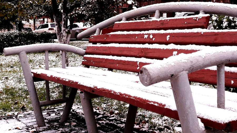 Bench Winter Is