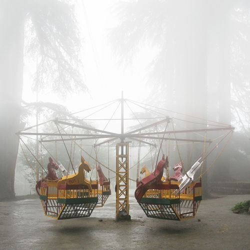 Abandoned Carousel Creepy Day EyeEmNewHere Fog Forest Horses India Loneliness Monsoon Nature Off Season Outdoors People Playground Rainy Days Sky The Secret Spaces Live For The Story