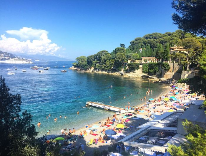 High Season Beach Holiday Trvel Destination France Boats Paloma Paloma Beach Saint Jean Cap Ferrat Mediterranean  Cost Riviera French Riviera Côte D'Azur Vacation Summertime Summer Water Tree Sky Nature Plant Sea Day Beach Beauty In Nature Land Outdoors Sunlight Scenics - Nature Bay