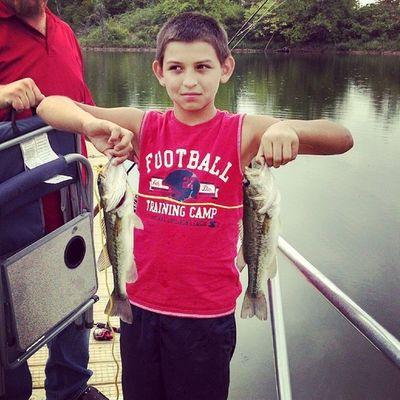 Dallas and his catch.