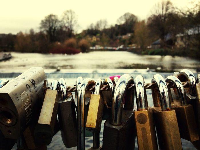 Bakewell Love Locks Love Locks Bakewell River