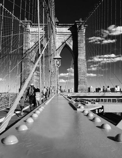 The Architect - 2016 EyeEm Awards The Brooklyn Bridge New York City Blackandwhite Photography Clouds And Sky EyeEmNewHere The Graphic City