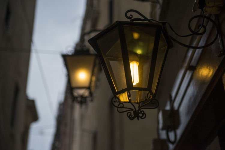 Architecture Electricity  Hanging Illuminated Italy Lighting Equipment Low Angle View No People Streetphotography Venice Wall Lamp