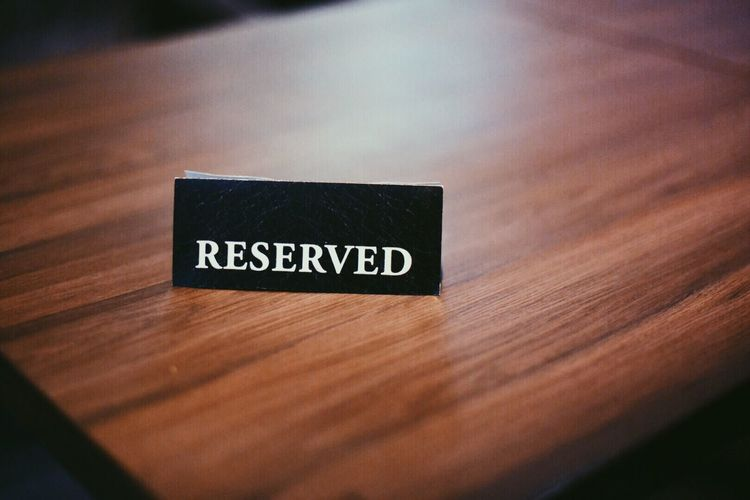 Reserved Restaurants Bar Booking Table