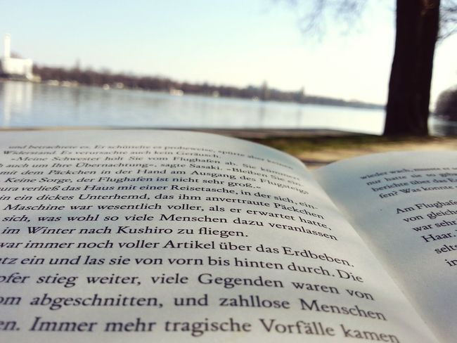 Sunny days and books are the best combination Relaxing Lake View EyeEm Nature Lover Books ♥ Reading Sunny Day Hannover Student Life Green Peace And Quiet Haruki Murakami Think Different Sommergefühle