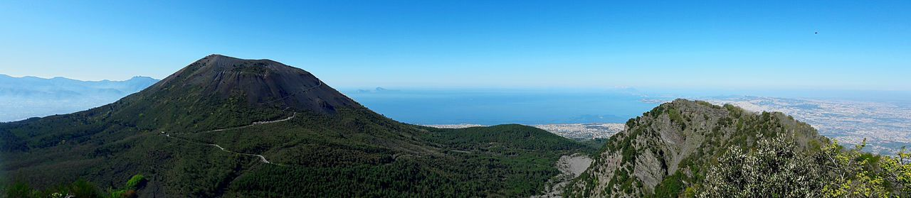 Sea Outdoors Blue Nature Scenics Day Mountain No People Beauty In Nature Sky Vesuvio Vesuvius  Alto Montesomma Smartphonephotography Panorama Panoramic Panoramic Photography Napoliphotoproject The Great Outdoors - 2017 EyeEm Awards