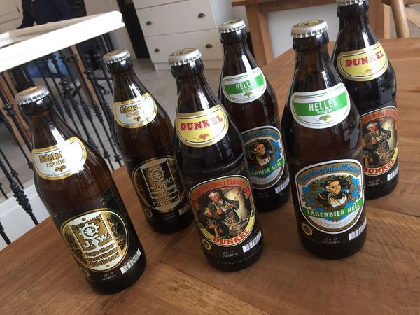 When you win a bet from the boss, he has to pay😆🍻 Augustiner Beer
