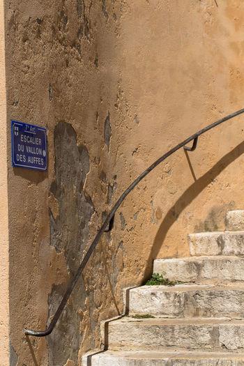 Escalier du Vallon Architecture Day Escalier Marseille No People Outdoors So French Staircase Texture Urban Urban Exploration