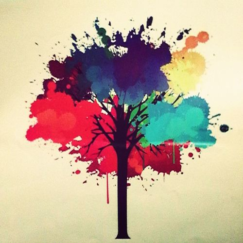 Наклейка на ноут, которого у меня нет с: Она прекрасна Brauty Tree Nice Art