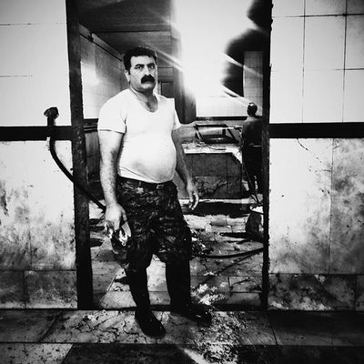5/5 His name is Mostafa. He is one of the Butcher who's work in Sari's Slaughterhouse Everydaymazandaran Everydayiran vscogoodshot vscodaily vscocam snapseed snapseedaily picoftheday photodocumentary photooftheday reportagespotlight gettyreportage daily mobilephotography mobilegraphy