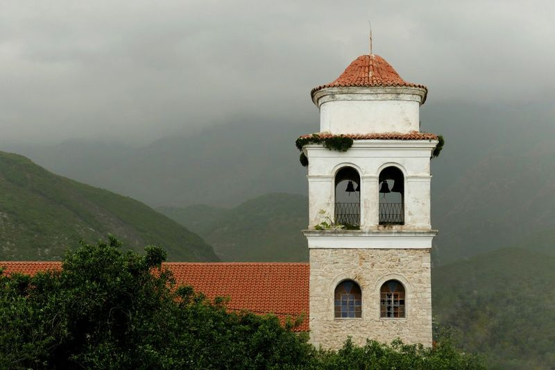 Himare Albania Church Old Town Fog Mountains Buildings No People Landscapes Traveling Travel Churchtower