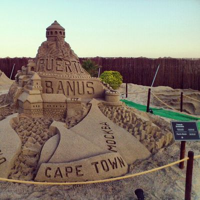 Sand Sculpture , Puerto Banus , by tomash hamachek from Czech republic done at the grandsand grand_sand playa_de_levante marbella spain