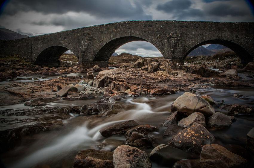 Bachlauf Burg Ruine Scotland Wrack Wreck Bay Boat Fairypools Felsen Fluss Gebirge Highlands Landscape Oldboat River Steine Waterfall