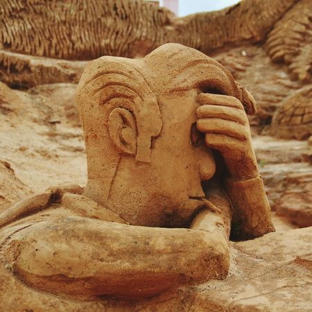Sand Lucky Luke Art No People Sand Sculpture Park Sand Sculpture Imagination Sand Sculptures Sculpture