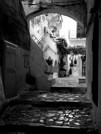 Black And White Photography BeW Sperlonga Italy Trip Keep Calm And Snap On Seaside Streetphotography Black & White