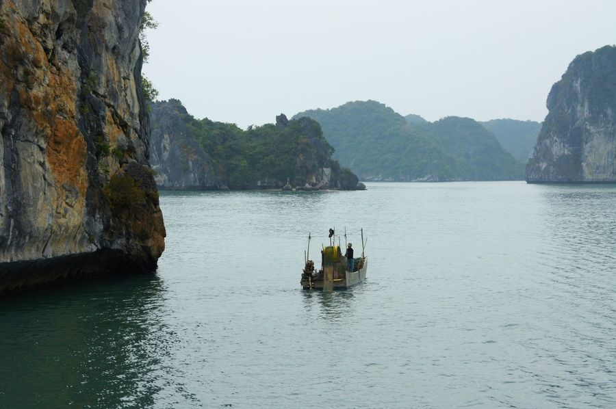 Adult Adults Only Astrology Sign Beauty In Nature Day Ha Long Bay Halong Halong Bay Vietnam Halongbay HalongbayCruise Nature Nautical Vessel Outdoors Pedal Boat People Travel Destinations Vacations Water