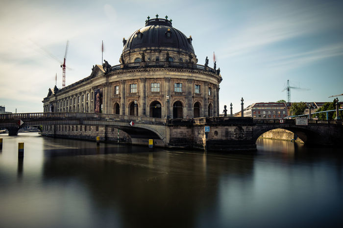 Architecture Berlin Bodemuseum Bridge - Man Made Structure Building Exterior Built Structure City Cloud - Sky Day Dome History Long Exposure No People Outdoors Reflection Sky Spree Tourism Travel Travel Destinations Water Waterfront Discover Berlin