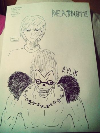 Death Note Kira Ryuk Drawing