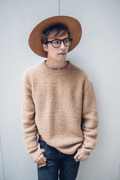 Japan Tokyo Casual Clothing Clothing Glasses Hairstyle One Person Standing Streetstyle Sweater Teenager Three Quarter Length Young Adult