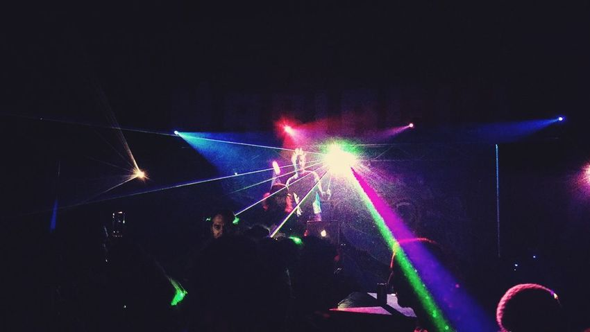 Rave Party Techno Music Light Colors Laser From My Point Of View