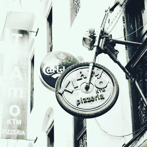 Nice place to park your bike. Ain't it??? Basantapur Street Pizzeria Eyeemnepali Awesomeshot