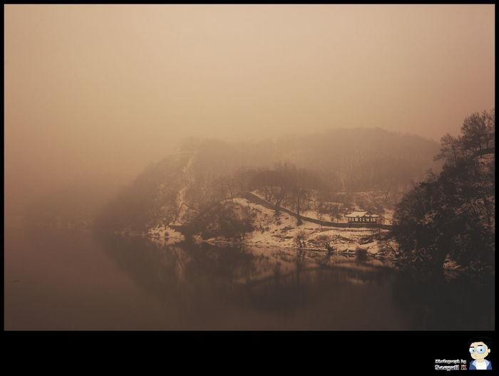 Gongju, Korea Gongsanseong Winter Architecture Fog Foggy Landscape No People First Eyeem Photo Fortress