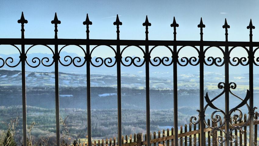 Metal Protection Gate Security Wrought Iron Safety Railing Mountain Nature Close-up Sky No People Day Outdoors