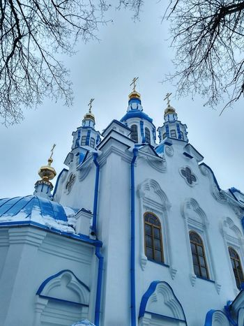 Architecture Religion Built Structure Cross Building Exterior Snow Cold Temperature Sky Religious Buildings Religious Place Cathedral храмы России храм Церковь Ortodox Ortodox Religion Ortodox Church Religious Architecture Church Dome Dome Golden Domes Church Architecture Church Winter Architecture