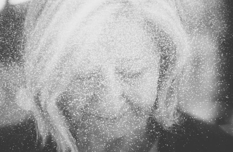 Close-up portrait of woman