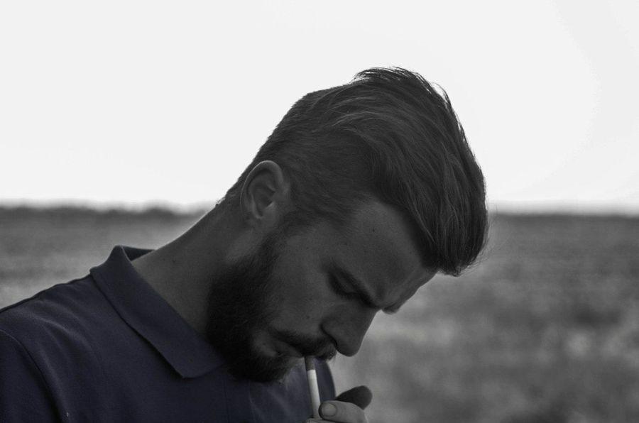 Smoking Cigarette  Blackandwhite