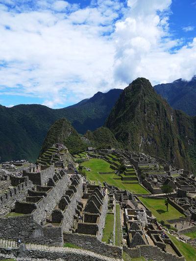 2016 Architecture Beauty In Nature Cloud - Sky Imperio Inca Inca Landscape Machu Picchu Mountain Nature Outdoors Peru Sky Travel Destinations World Heritage インカ帝国 ペルー マチュピチュ 遺跡