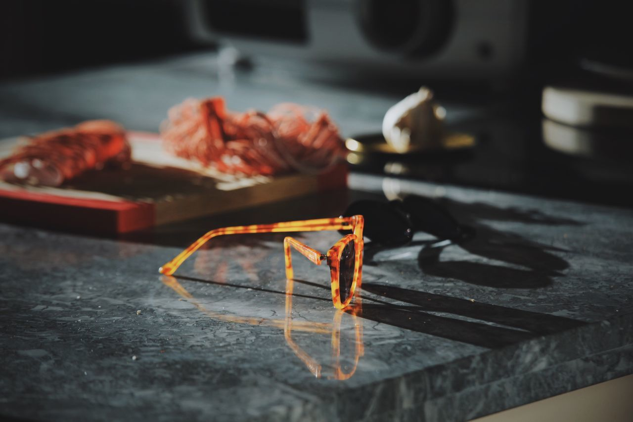 Sunglass On Kitchen Counter