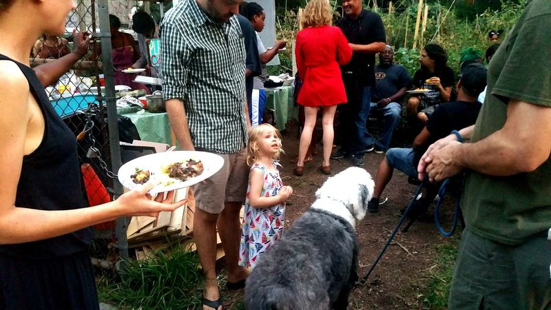 enjoying the moment... Garden Friends Gardening Pets Kids Potluck Outside Photography Dog Sheepdog Girl