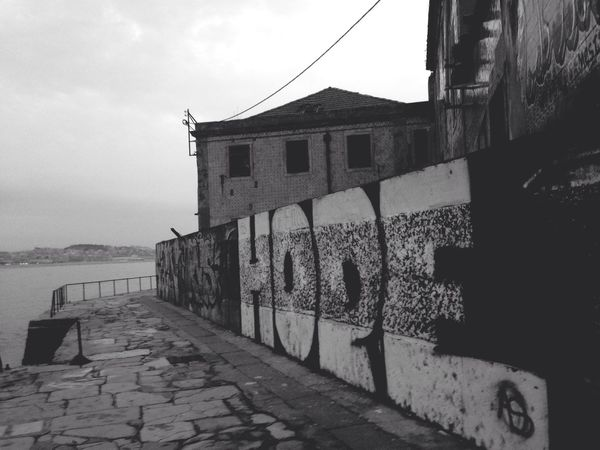 No People Street Art Graffiti Docks Dockside View Old Buildings Sea Urban